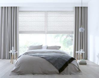 vouwgordijn-met-gordijnen-slaapkamer